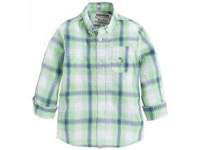 Košile chlapecká dlouhý rukáv kostka zelená MINI Mayoral